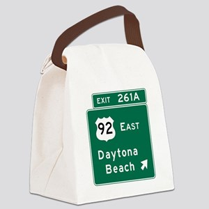 Daytona Beach, FL Canvas Lunch Bag