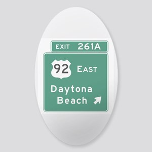 Daytona Beach, FL Sticker (Oval)