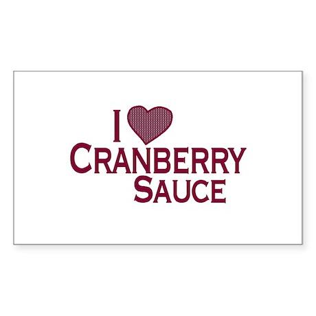 I Love Cranberry Sauce Rectangle Sticker
