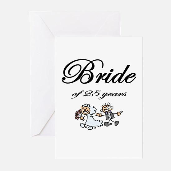 25th Wedding Anniversary Gifts Greeting Cards (Pk