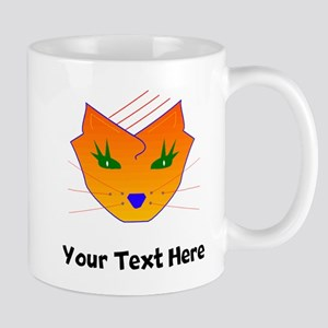 Orange Cat Face (Custom) Mugs