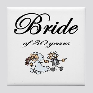 30th Wedding Anniversary Gifts Tile Coaster