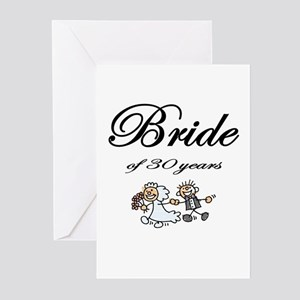 30th Wedding Anniversary Gifts Greeting Cards (Pk