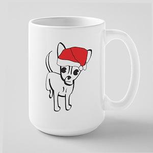 Santa Chihuahua Large Mug
