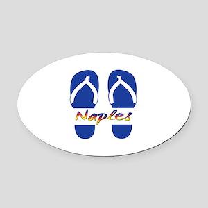 Naples Florida Oval Car Magnet