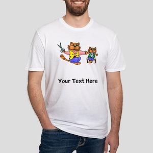 Cat Getting Hair Cut (Custom) T-Shirt