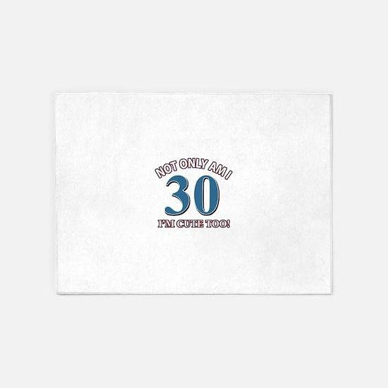 30 birthday design 5'x7'Area Rug