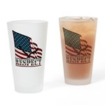 Patriotic Respect W/ Eagle & Large Drinking Gl
