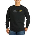 Digger Operator Long Sleeve Dark T-Shirt