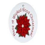 A Wicked Good Christmas! Oval Ornament