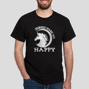 Horses Make Me Happy T Shirt T-Shirt