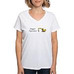 Digger Operator Women's V-Neck T-Shirt