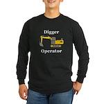 Digger Operator Long Sleeve Dark T-Shirt