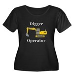 Digger O Women's Plus Size Scoop Neck Dark T-Shirt