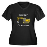Digger Opera Women's Plus Size V-Neck Dark T-Shirt