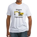 Digger Operator Fitted T-Shirt