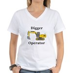 Digger Operator Women's V-Neck T-Shirt