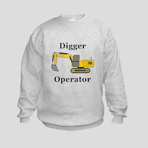 Digger Operator Kids Sweatshirt