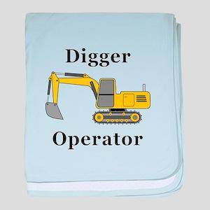 Digger Operator baby blanket