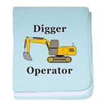 Digger Operator baby blanket