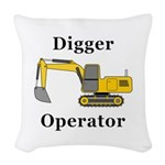 Digger Operator Woven Throw Pillow