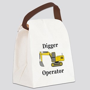 Digger Operator Canvas Lunch Bag