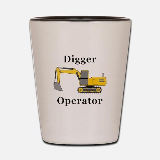 Digger Operator Shot Glass