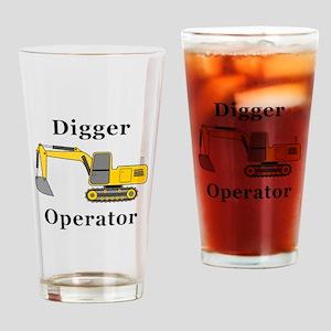 Digger Operator Drinking Glass