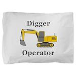 Digger Operator Pillow Sham