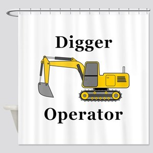 Digger Operator Shower Curtain