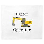 Digger Operator King Duvet