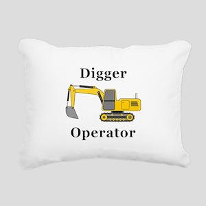 Digger Operator Rectangular Canvas Pillow