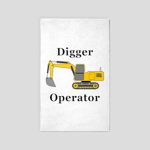 Digger Operator Area Rug