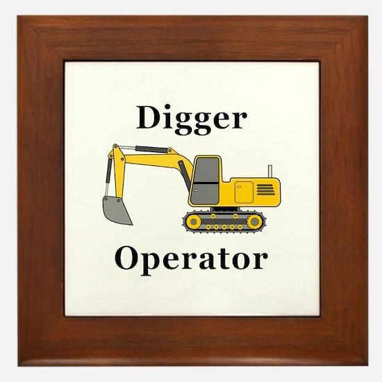 Digger Operator Framed Tile