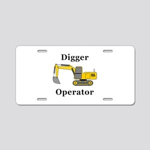 Digger Operator Aluminum License Plate