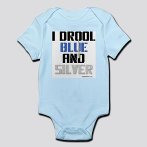 BLUE AND SILVER Infant Bodysuit