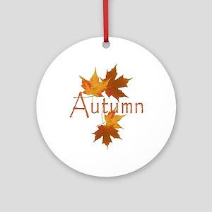 Autumn Leaves Ornament (Round)