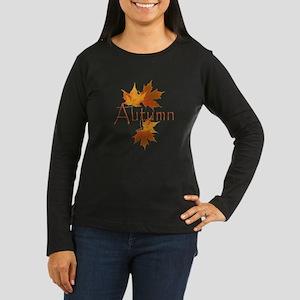 Autumn Leaves Women's Long Sleeve Dark T-Shirt
