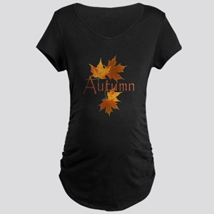 Autumn Leaves Maternity Dark T-Shirt