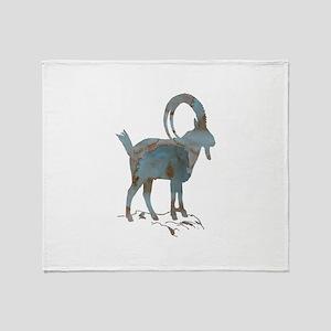 Alpine Ibex Throw Blanket
