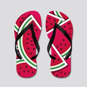 f6e3ca41b90 Watermelon Seed Flip Flops - CafePress