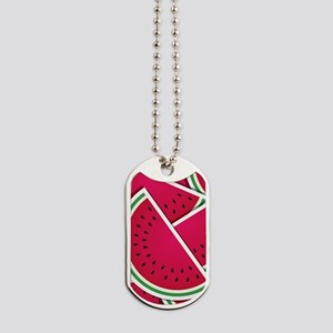 Funky watermelon wedges Dog Tags