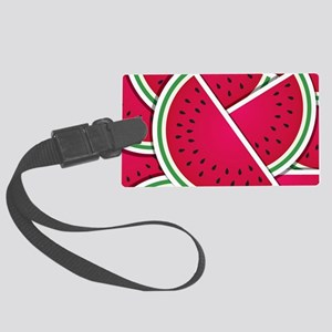 Funky watermelon wedges Large Luggage Tag