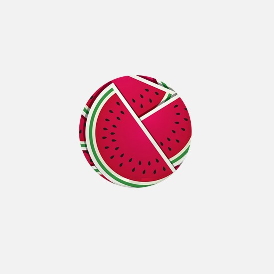 Funky watermelon wedges Mini Button