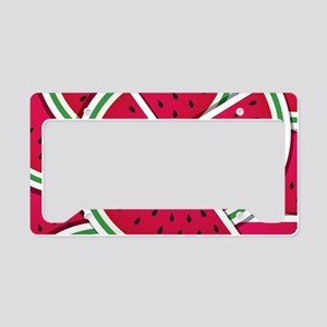 Funky watermelon wedges License Plate Holder