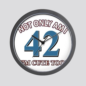 42 birthday design Wall Clock