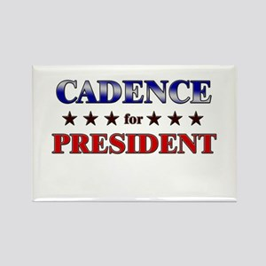 CADENCE for president Rectangle Magnet