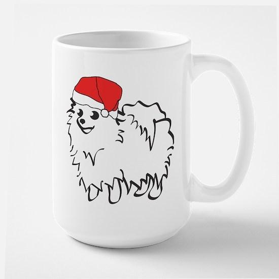 Santa Pomeranian Large Mug