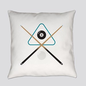 Pool Cue & Balls Everyday Pillow