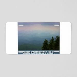 High Country North Carolina Aluminum License Plate